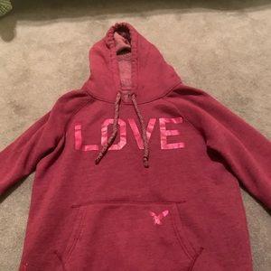 A mid condition American eagle sweatshirt